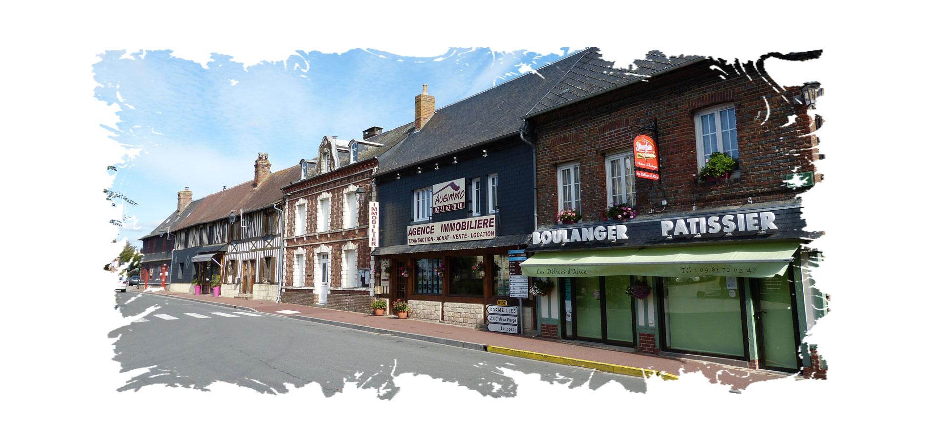 Le bourg de Moyaux